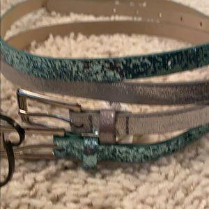 Pair of Apt 9 belts